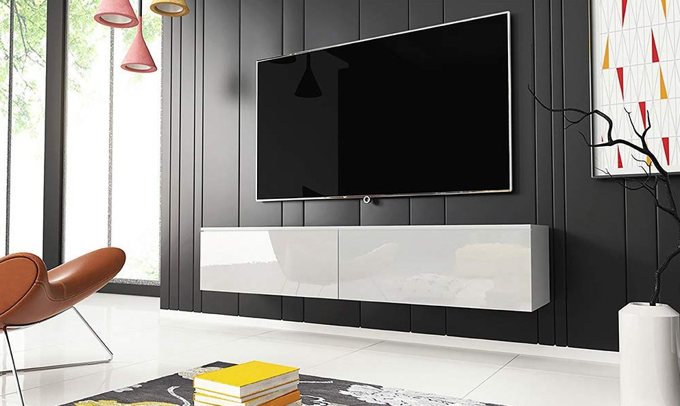 muebles tv blanco lacado